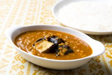 茄子とひき肉のカレー(マイルド)