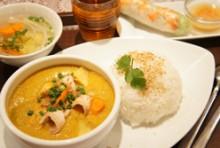 【Jセット】鶏肉とさつまいものチキンカレー&ライス カリガー