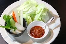 おやじのにんにく味噌★パリパリキャベツとにんにく味噌&スティック野菜