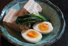 豚の塩角煮(玉子付き)