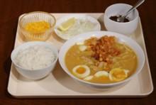 【ランチ】Eセット:オーノカウスェー(鶏肉+ココナッツミルク麺)