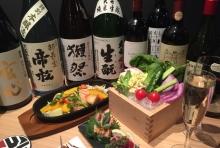 日本酒とワインを料理に合わせてご提案