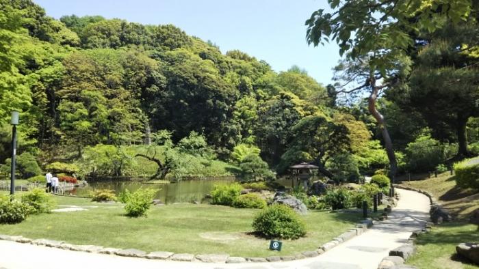 肥後細川庭園入ってすぐ