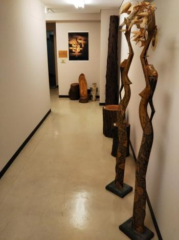 木組み1回廊下