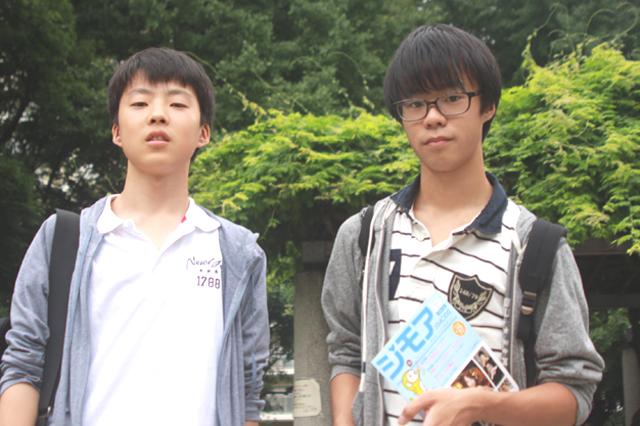 戸山公園のゴミを拾ってキレイにしてくれている戸山高校の村田さんたち