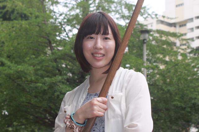 殺陣の練習中に笑顔の一枚☆宮堂愛弓さん
