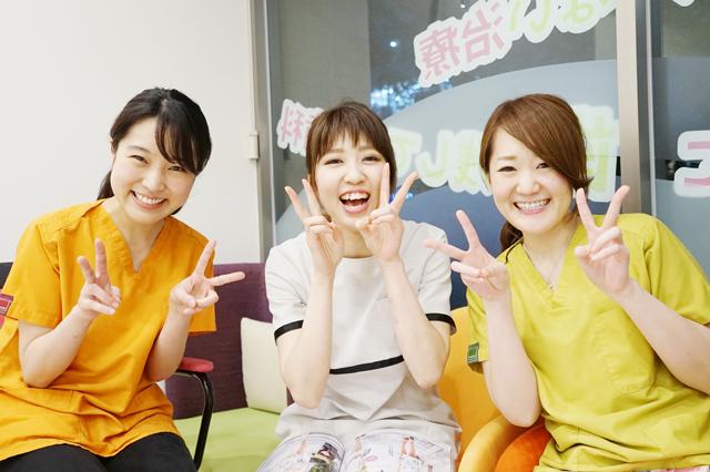 20160810元気で明るく丁寧に接します☆西早稲田駅前歯科の女性スタッフの皆さん