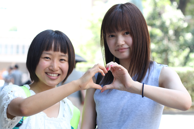 20160815今日はオープンキャンパスで岡谷から来ました☆原さんと小高さん