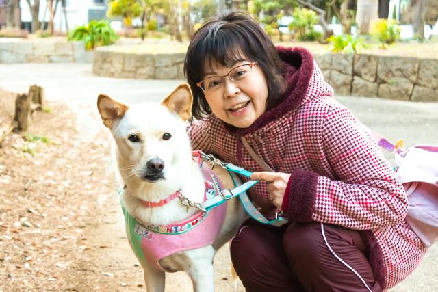20170226_市川さんと愛犬の愛ちゃん