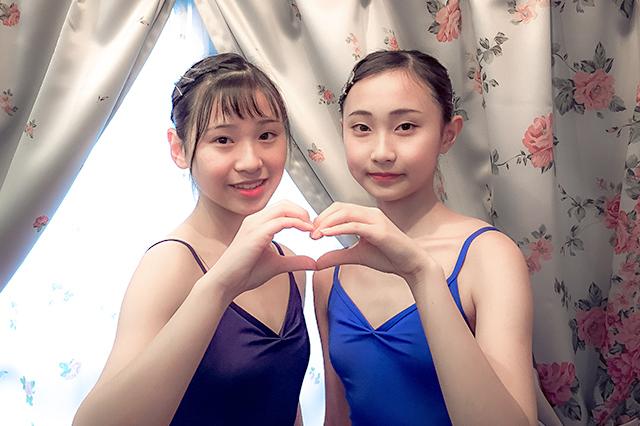 20170613_T.A.バレエ高田馬場教室の生徒ふたりで❤