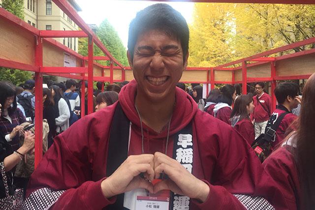 早稲田祭2017運営スタッフの小松陸雄さんIMG_4737