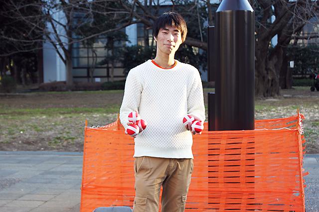 早稲田ジャグリングサークルinfinityのけいままさん
