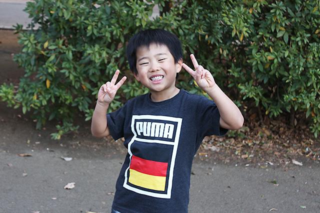 サッカー大好き☆笑顔が素敵なさくちゃん@戸山公園