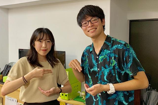早稲田大学ラーメン部の水谷さんと西牟田さん