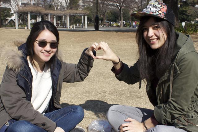7_バムさんとシャロンさん@戸山公園