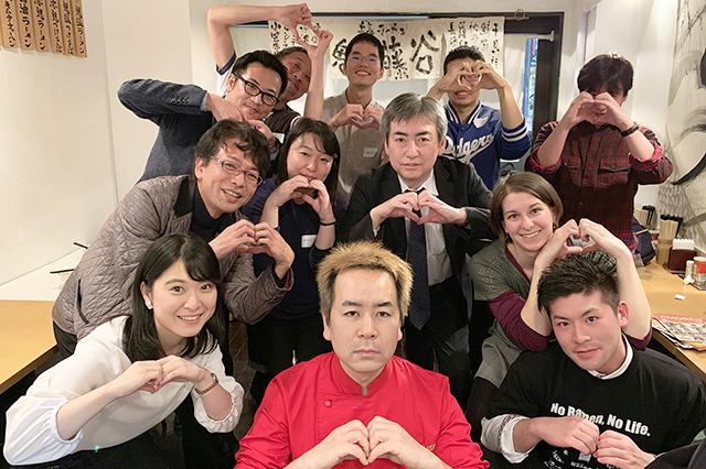 ジモア新聞RMN18ラーメンコンパ集合のヒトコマ♪@鬼そば藤谷
