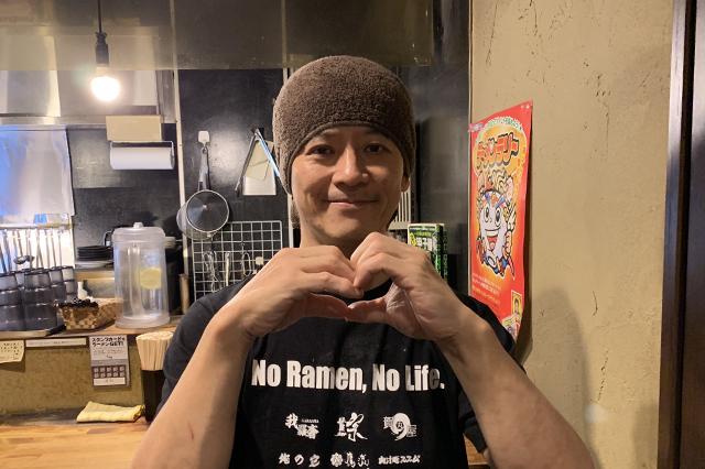 西早稲田駅すぐの「らーめん我羅奢」店主富田さん