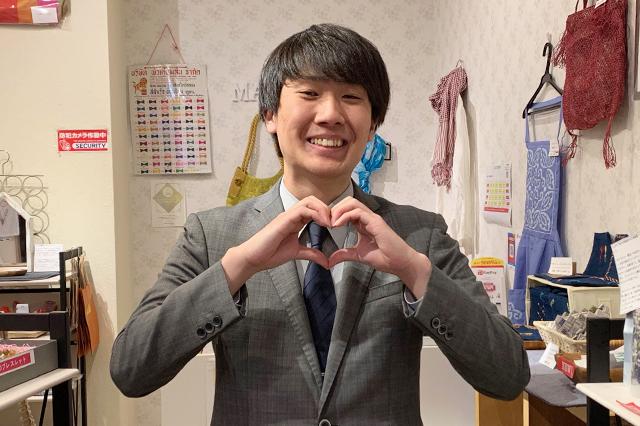 早稲田大学マイルストーン編集会の上原大幸さん*本日は体調が優れないらしく…ご自愛ください